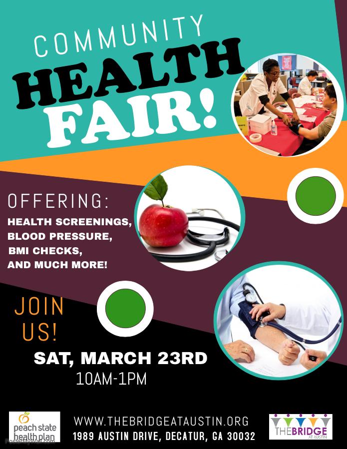 Community Health Fair @ D. Benton Fellowship Hall